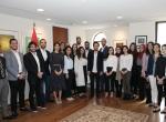 ولي العهد يلتقي مجموعة من الطلبة الأردنيين الدارسين في الجامعات الأمريكية