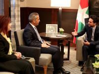 مندوبا عن الملك، ولي العهد يستقبل رئيس مجلس القضاء الأعلى العراقي