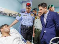Crown Prince checks on injured gendarmes, public security personnel at King Hussein Medical Centre