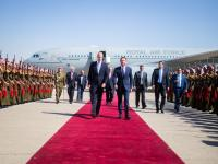 Crown Prince receives Prince William at Marka Military Airport