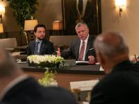 King meets political media figures, says Jordan strong, capable of overcoming challenges