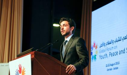 Remarks by His Royal Highness Crown Prince Al Hussein bin Abdullah II  at the Global Forum on Youth, Peace and Security