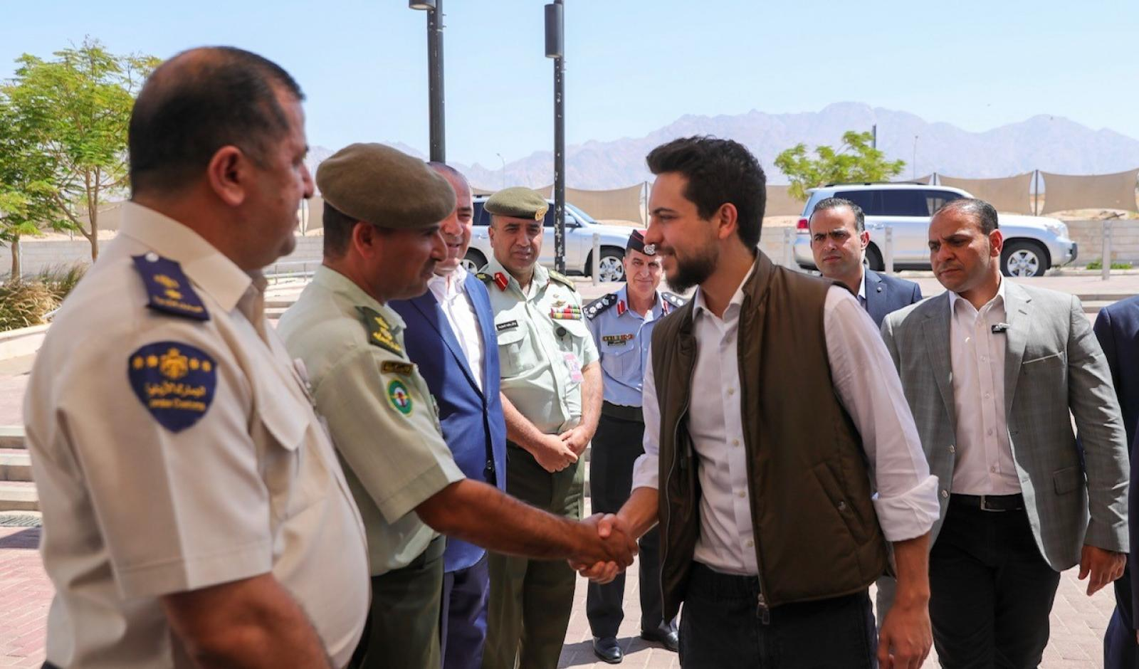 Crown Prince checks on readiness of King Hussein International Airport in Aqaba