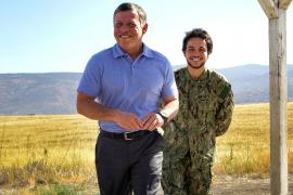 His Majesty King Abdullah II  and H.R.H. Crown Prince Al Hussein bin Abdullah II