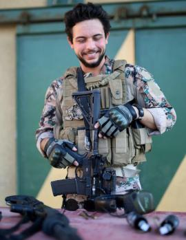 HRH Crown Prince Al Hussein Bin Abdullah after a military exercise at KASOTC
