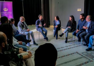 ولي العهد يزور الهيئة الملكية الأردنية للأفلام