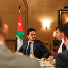 H.R.H Crown Prince Al Hussein Bin Abdullah attends His Majesty King Abdullah II's meeting with political, economic figures participating in WEF MENA