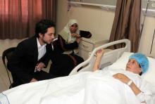 سمو الأمير الحسين بن عبدالله الثاني، ولي العهد، يزور جرحى قطاع غزة في مدينة الحسين الطبية