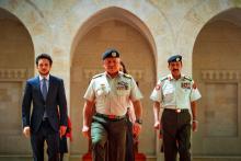 جلالة الملك عبدالله الثاني يسلم الراية الهاشمية للقوات المسلحة الأردنية - الجيش العربي، بحضور سمو الأمير الحسين، ولي العهد.