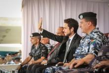 سمو الأمير الحسين بن عبدالله الثاني، ولي العهد، يرعى احتفالات مديرية الأمن العام بالمناسبات الوطنية