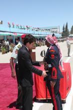 سمو الأمير الحسين بن عبدالله الثاني، ولي العهد، يرعى حفل تخريج طلاب الجناح العسكري في جامعة مؤتة