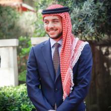 سمو الأمير الحسين بن عبدالله الثاني، ولي العهد، خلال الاحتفال بالعيد التاسع والستين لاستقلال المملكة - أيار 2015