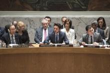 """HRH Crown Prince Al Hussein bin Abdullah II chaired and delivered Jordan's statement at the UN Security Council (UNSC) open debate on the """"Role of Youth in Countering Violent Extremism and Promoting Peace"""" 23/4/2015"""
