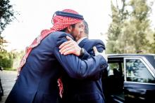 His Majesty King Abdullah II and H.R.H. Crown Prince Al Hussein bin Abdullah II at the Jordanian 69th Independence Day