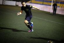 سمو الأمير الحسين بن عبدالله الثاني، ولي العهد، يمارس رياضة كرة قدم- 2013