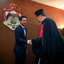 سمو الأمير الحسين بن عبدالله الثاني، ولي العهد، يلتقي شخصيات مسيحية