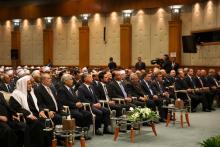 برفقة جلالة الملك عبدالله الثاني، سمو الأمير الحسين، ولي العهد، يحضر احتفال المولد النبوي الشريف