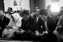 جلالة الملك عبدالله الثاني وسمو الأمير الحسين، ولي العهد، يشاركان المصلين أداء صلاة الجمعة 2013