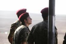 سمو الأمير الحسين بن عبدالله الثاني، ولي العهد، يحضر إحدى التمرينات العسكرية
