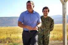 His Majesty King Abdullah II  and H.R.H. Crown Prince Al Hussein bin Abdullah II