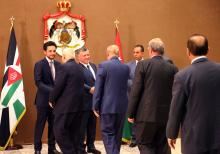 His Majesty King Abdullah II, accompanied by HRH Crown Prince Al Hussein, hosts iftar banquet for senior officials 21/6/2015