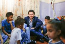 نائب جلالة الملك، سمو الأمير الحسين بن عبدالله الثاني، ولي العهد يزور مركز الأيتام التابع لجمعية عمر بن الخطاب الخيرية في الزرقاء