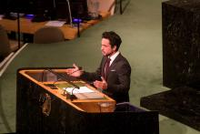 HRH Crown Prince Al Hussein bin Abdullah II delivering  Jordan's address at UN General Assembly 2017