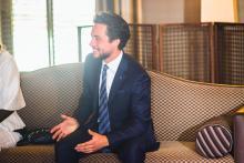 سمو الأمير الحسين بن عبدالله الثاني، ولي العهد خلال زيارة الحاكم العام لأستراليا