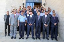 سمو الأمير الحسين بن عبدالله الثاني ولي العهد خلال زيارته لإدارة مكافحة المخدرات
