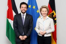HRH Crown Prince Al Hussein bin Abdullah II during a visit to Germany - November 2017