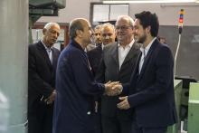 سمو الأمير الحسين بن عبدالله الثاني، ولي العهد، يزور شركة مصانع الأجواخ الأردنية في الزرقاء ـ آب 2014