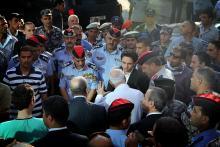 سمو الأمير الحسين بن عبدالله الثاني، ولي العهد، يزور مستشفى فرح عقب الحريق الذي شب فيها- 2013