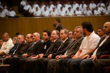 H.R.H. Crown Prince Al Hussein bin Abdullah II attending the first 7aQq Initiative graduation, January 2014