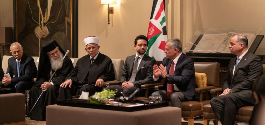الملك يلتقي أعضاء مجلسي أوقاف وكنائس القدس الشريف وشخصيات مقدسية وممثلين عن عرب الداخل