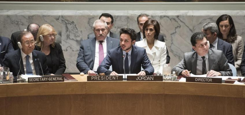 خطاب سمو الأمير الحسين بن عبدالله الثاني خلال جلسة مجلس الأمن الدولي