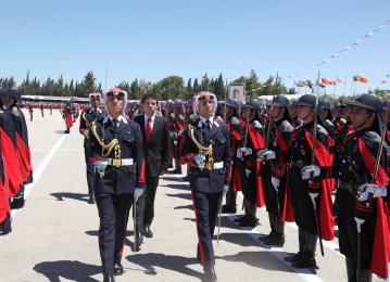 مندوبا عن الملك ولي العهد يرعى حفل تخريج الفوج الخامس والعشرين من ضباط جامعة مؤتة